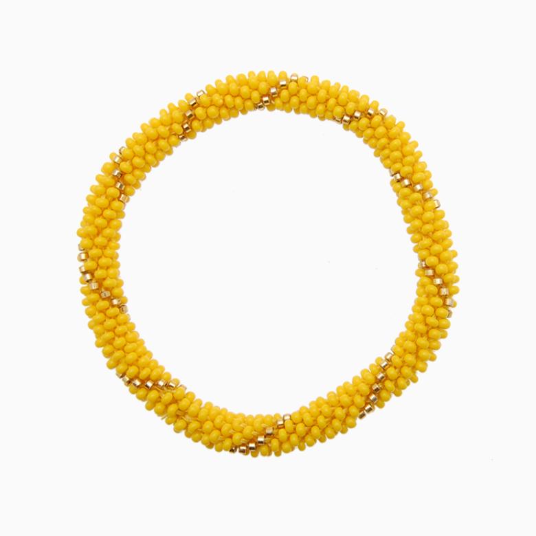 Rundt armbånd, gul | no. 14B