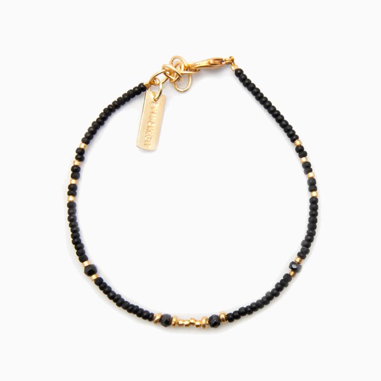 Perlearmbånd med gemstones, grå | no. 07C- DESVÆRRE UDSOLGT