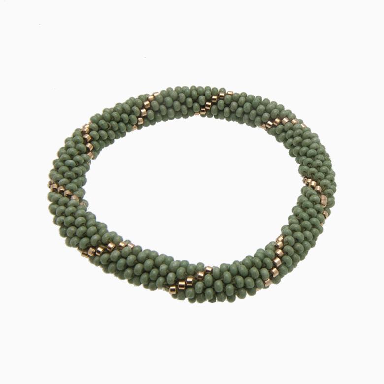 Rundt armbånd, lys grøn | no. 14C