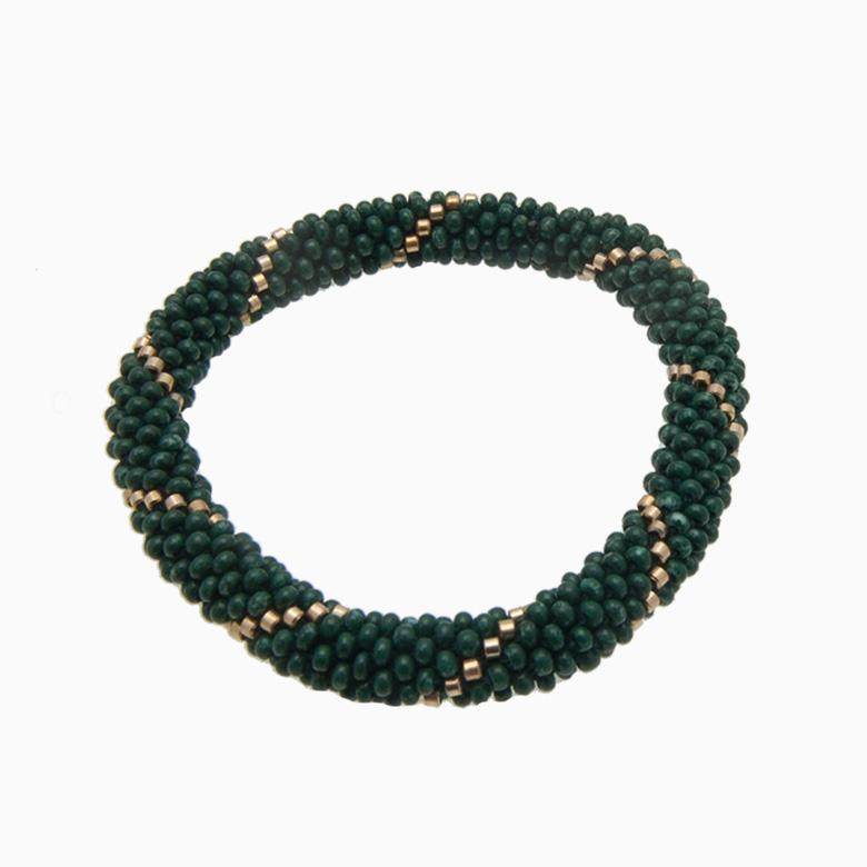 Rundt armbånd, mørkegrøn | no. 14D