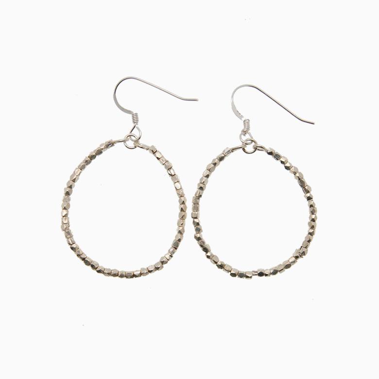 Runde creol øreringe, sølv | no. 428A