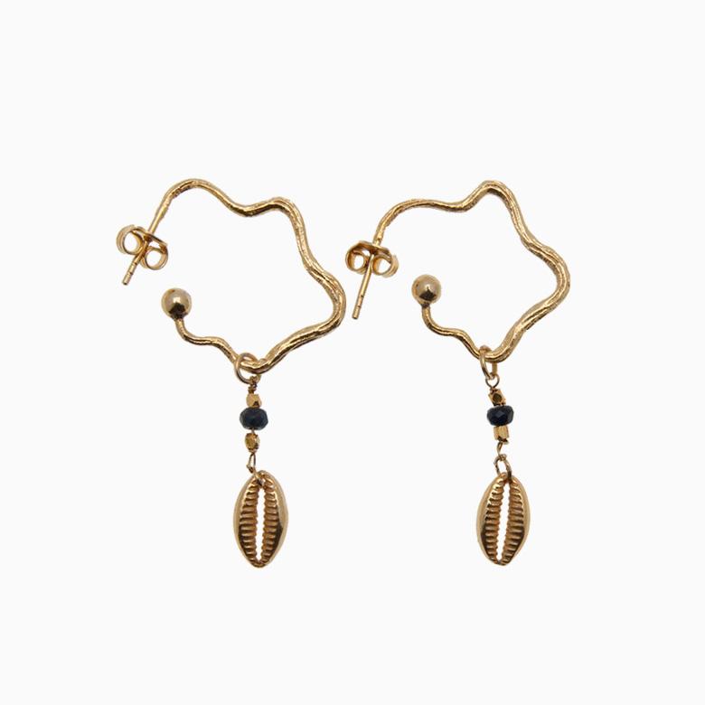 Øreringe med konkylie, guld | no. 428