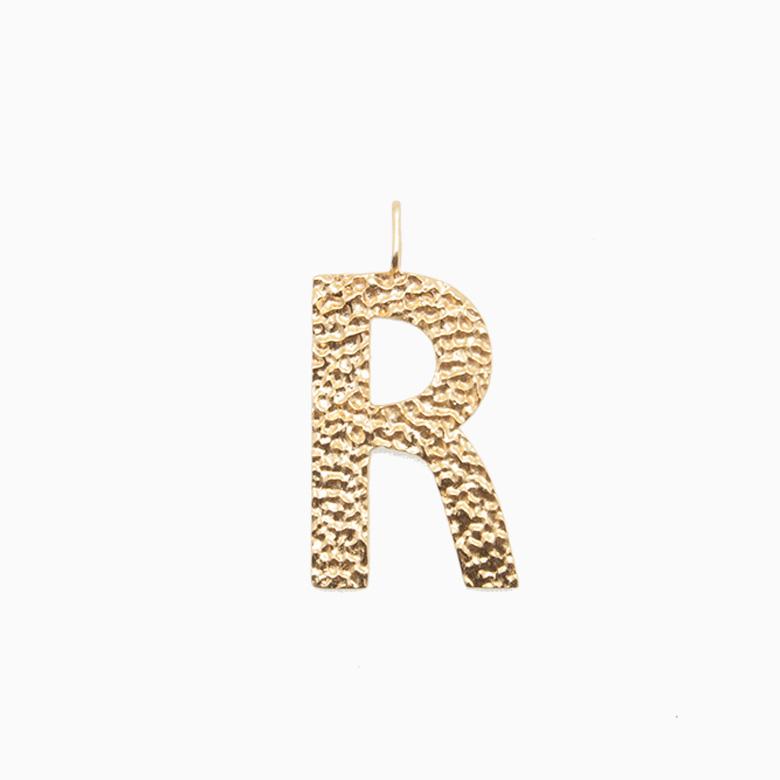 Guldbogstav til halskæde, R | 801R