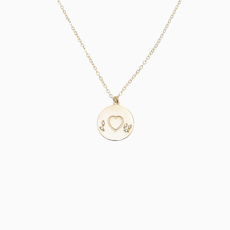 Guld halskæde med hjerte | no. 836