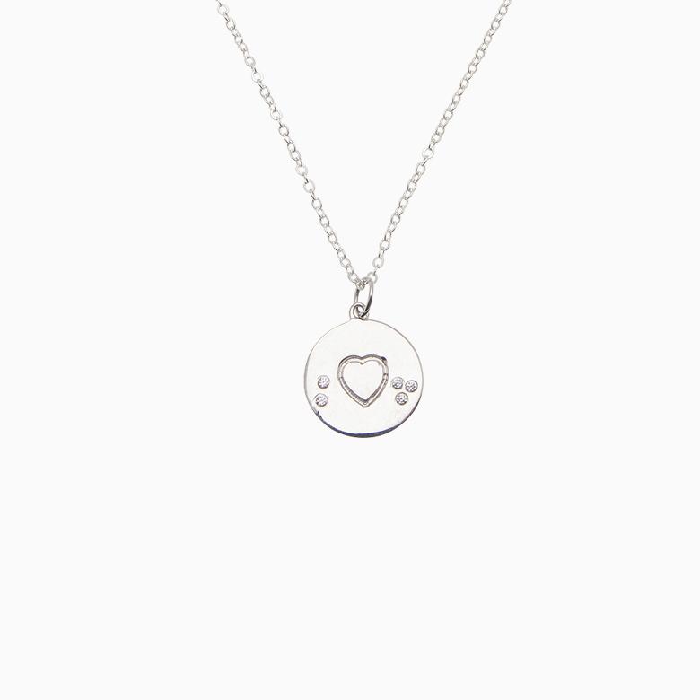 Sølv halskæde med hjerte | no. 837