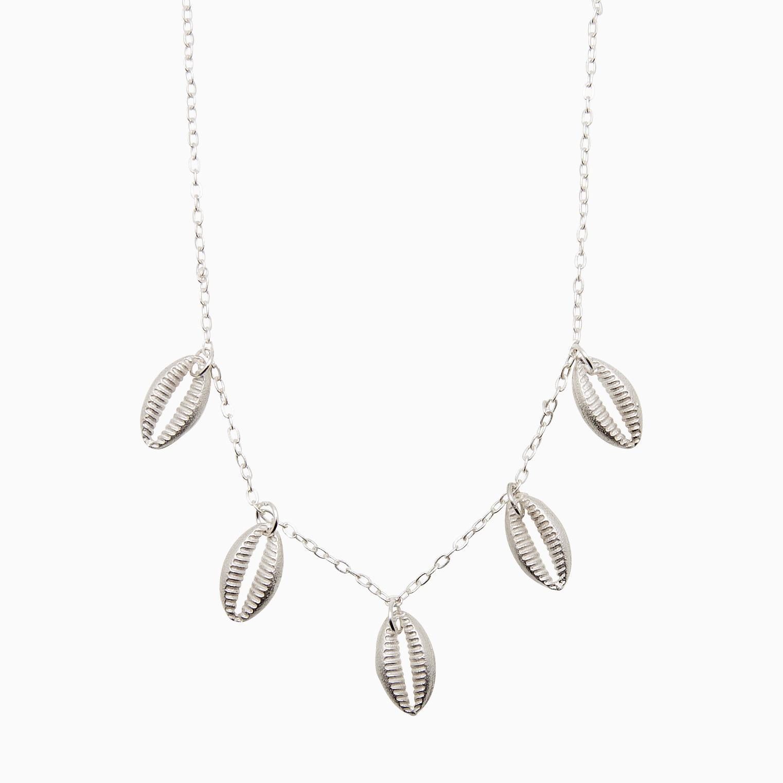 Halskæde af sølv konkylier | no. 800A