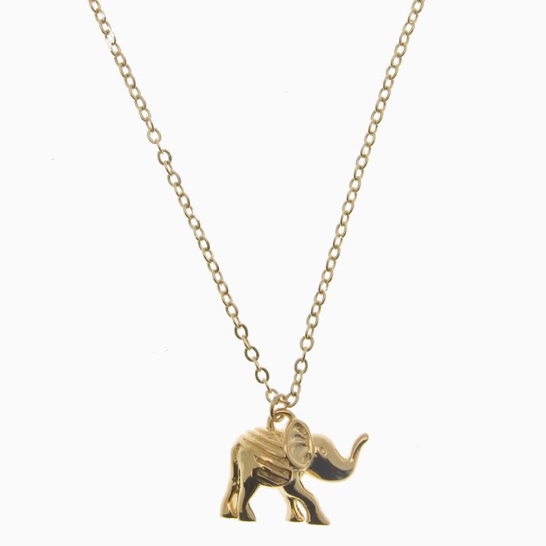 Halskæde med elefant, guld | no. 823