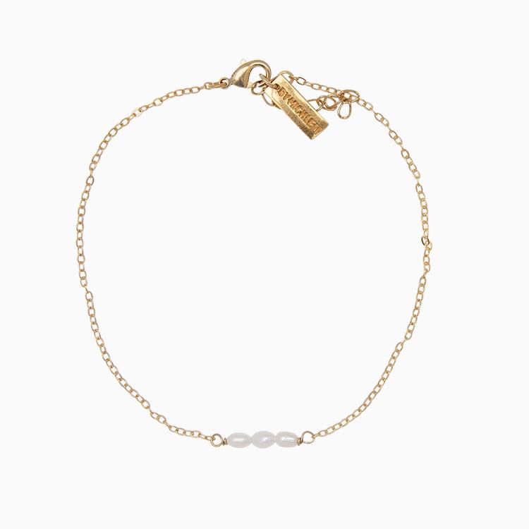 Ankelkæde med fine små barok perler | no. 797