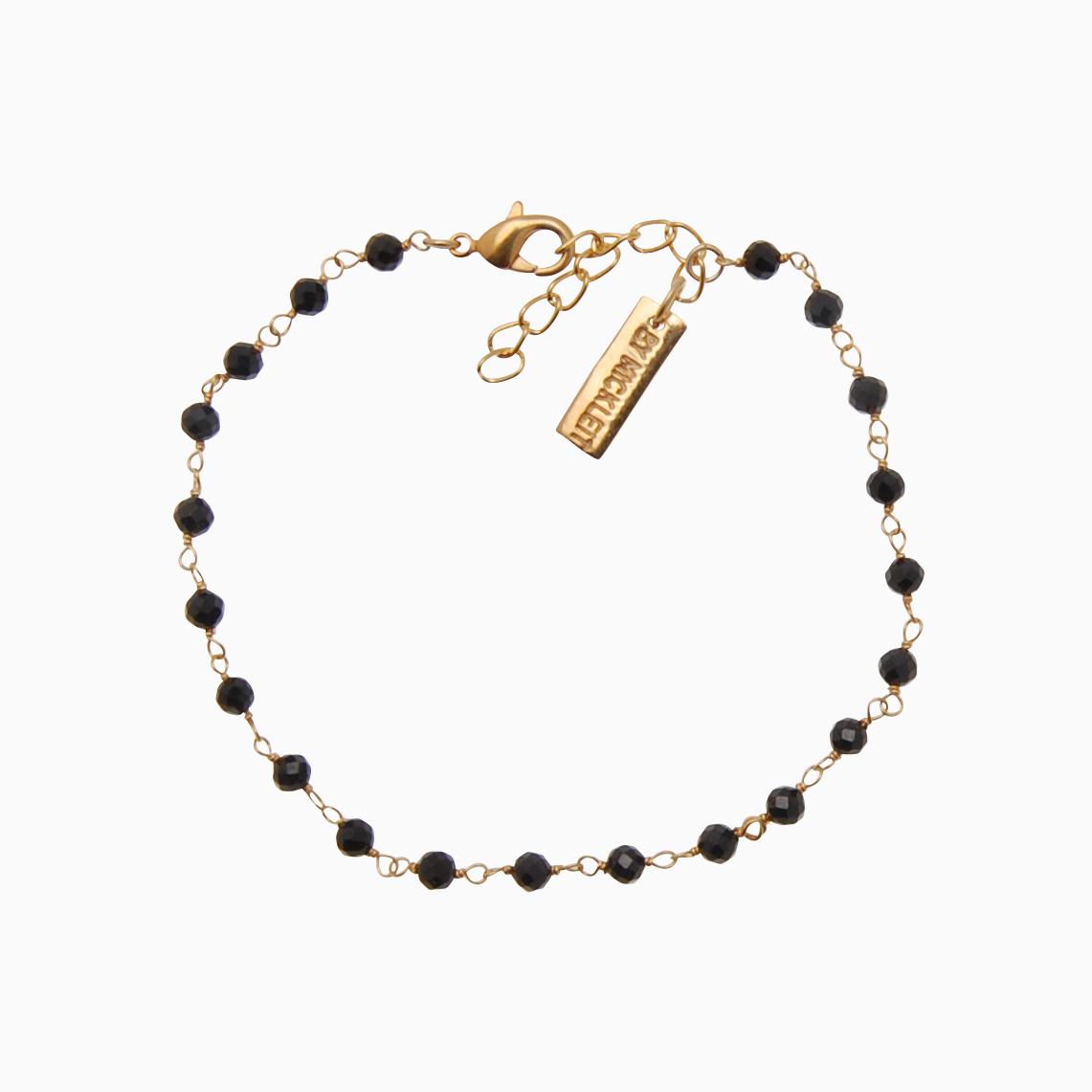 Gemstone armbånd, sort | no. 75