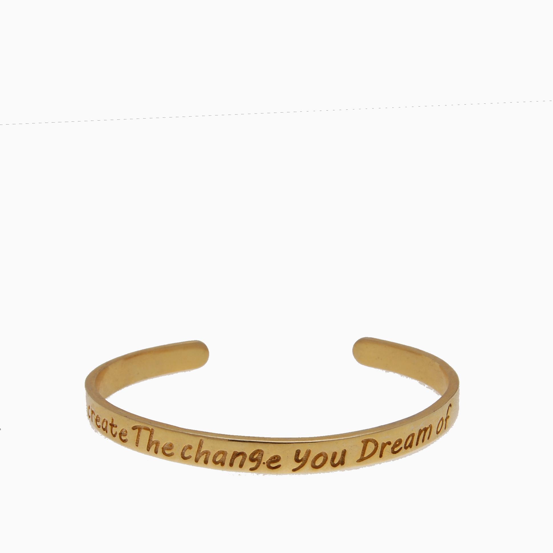 Armbånd guldbelagt med statement | no. A1