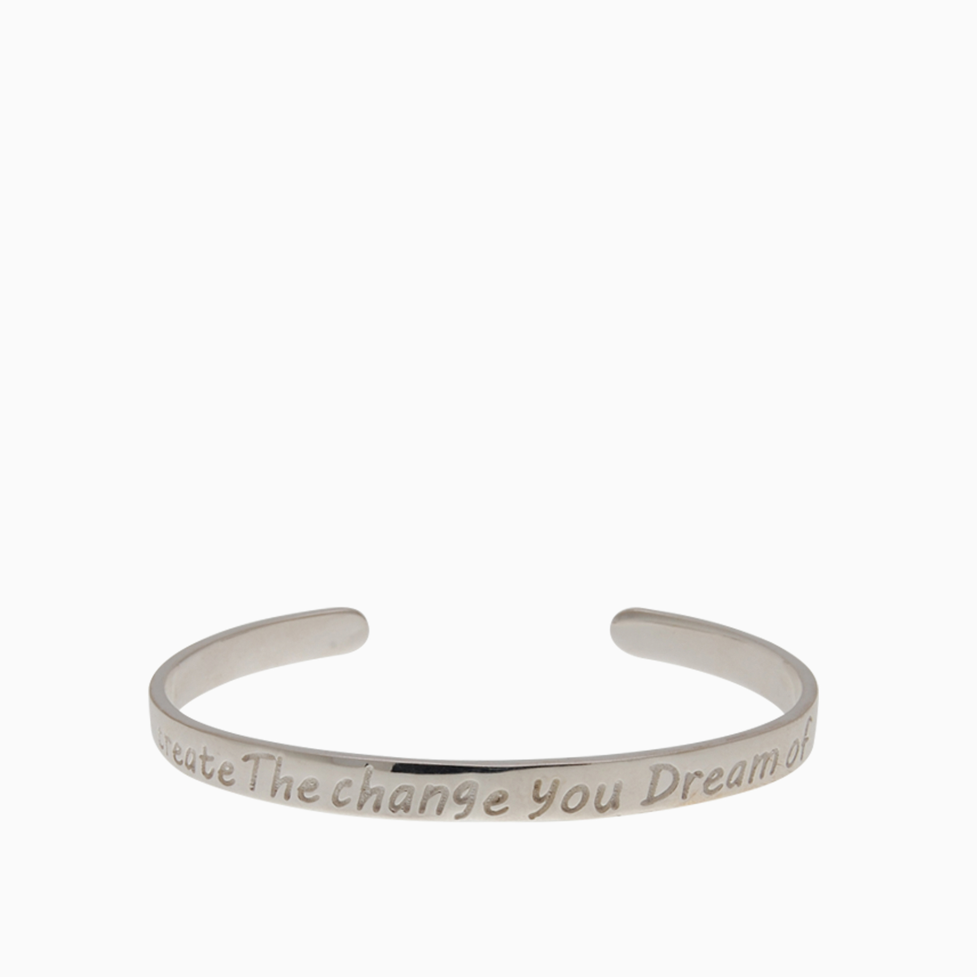 Armbånd sølvbelagt med statement | no. B3