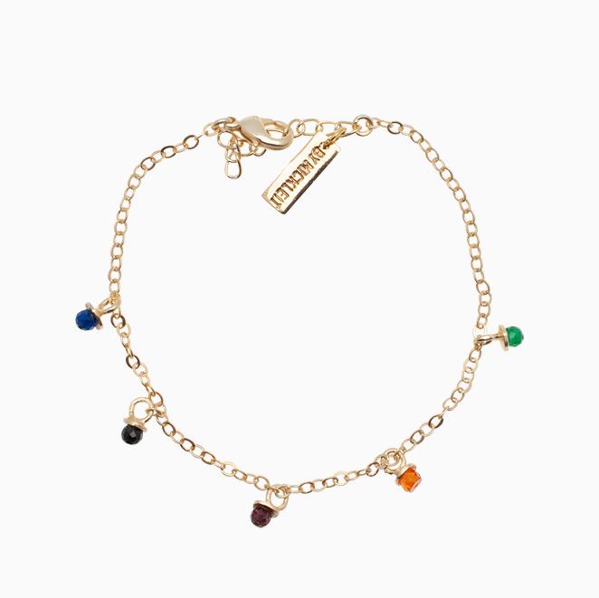 Guldarmbånd med fine gemstone| no.94