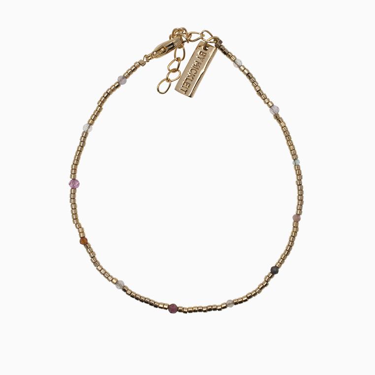 Guldarmbånd med gemstone| no.146 – DESVÆRRE UDSOLGT