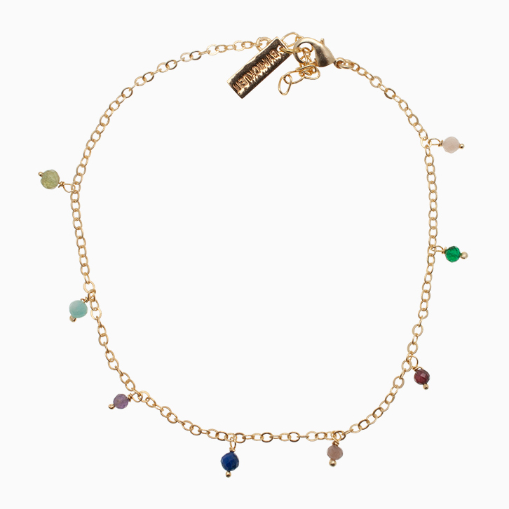Ankelkæde med gemstone| no.798